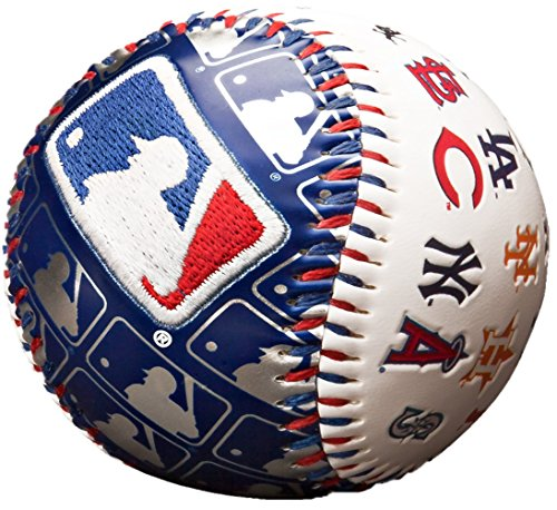 MLB League Logo Cap Logo Baseball, Official Size, White