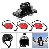 Fantaseal Action Camera Helmet Mount Aluminum Skydiving Helmet Mount Permanent Helmet Mount Helmet Front Mount for GoPro Hero 6 / 5 / 4 / 3+ Session / SJCAM / Garmin Virb XE Virb Action Cam - Black