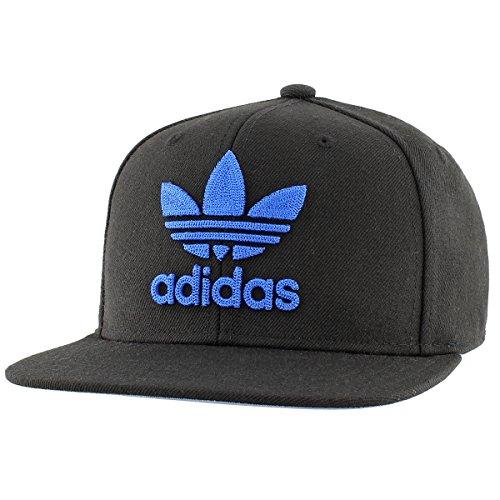 adidas Men's Originals Snapback Flatbrim Cap, Black/Blue, One Size from adidas Originals