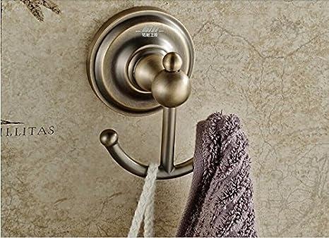 Euro Rozinsanitary bronce estilo antiguo perchas gorro de baño de pared colgador de toallas: Amazon.es: Bricolaje y herramientas