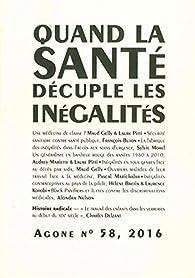 Agone 58-Quand la Sante Decuple les Inegalites- par Revue Agone
