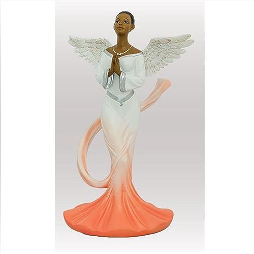 Sash Angel in Orange African American Angel Statue