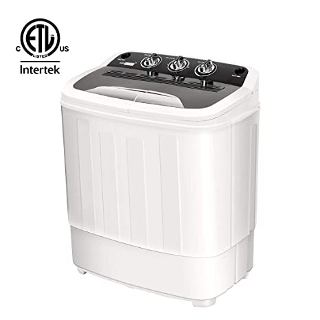 VIVOHOME Electric Portable 2 in 1 Twin Tub Mini Laundry Washer and Spin  Dryer Combo Washing Machine with Drain Hose for Apartments 13lbs Capacity  ETL ...
