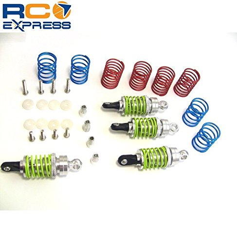 Hot Racing TD50E08 Silver Aluminum 50mm Shock Set W/Spings