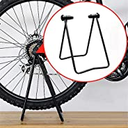 Bike Stand, Foldable Display Repair Bicycle Rack Parking Holder, Applicable to Adjust Drive Train, Fix Brakes,