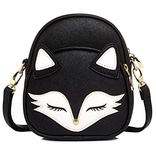 Katoony Girls PU Leather Cute Cartoon Animal Shoulder Handbag Crossbody Bag Satchel Purse with Fox (Animal Purse)