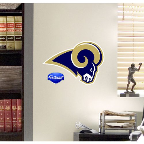 (NFL St. Louis Rams Logo Fathead Wall Decal, 15 x 12-inches,)