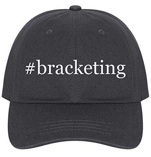 The Town Butler #Bracketing - A Nice Comfortable Adjustable Hashtag Dad Hat Cap, Dark Grey, One Size