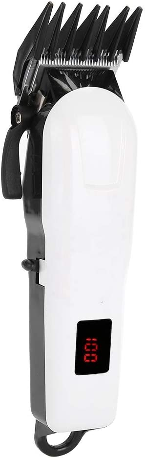 Cortadora de podadora eléctrica inalámbrica USB, conjunto de herramientas de corte de máquina de corte de cabello eléctrico ergonómico recargable de bajo ruido para hombres mujeres peluquería/barba