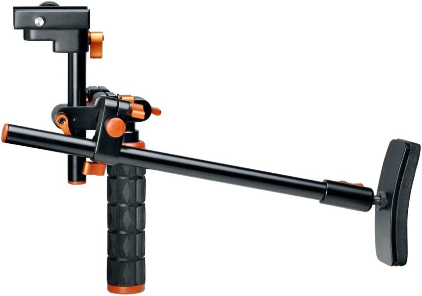 Polaroid PL-STATT Rolling Mini Dolly Stabilization System With Pole Handle For The Samsung HMX-F80 QF30 Camcorder Q20 U20 F90 QF20