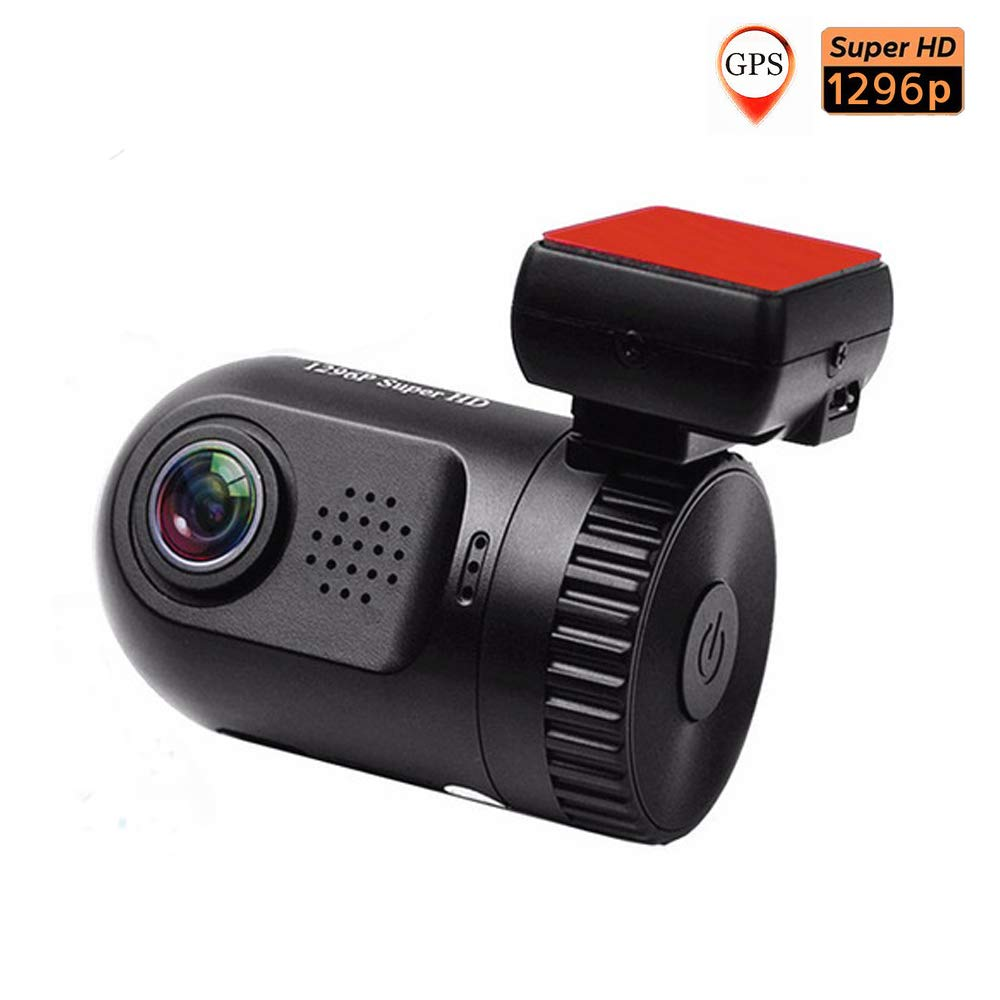PolarLander Mini 0805 Auto DVR Recorder 1, 5'TFT Bildschirm GPS Auto Camcorder 1296P HD Auflö sung 120 Grad Winkel Objektiv Unterstü tzung 32GB SD Karte