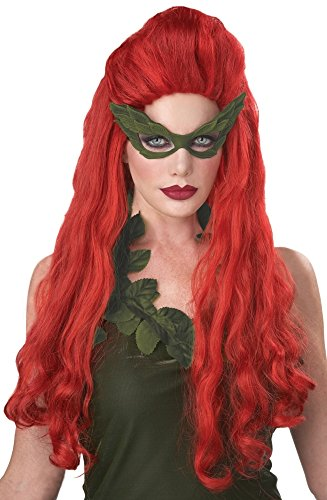 California Costumes Women's Lethal Beauty Wig Long Ivy Red Poison, Red, One Size