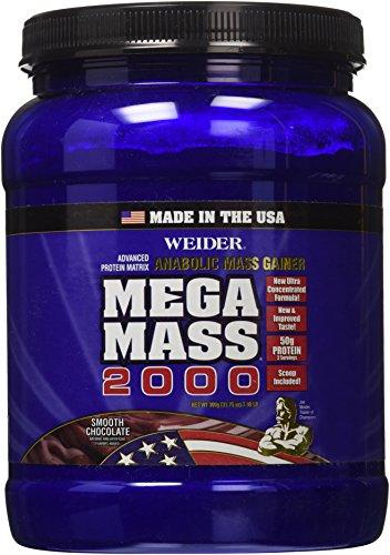 Weider Mega masa 2000, lisa Chocolate, 1,98 libras