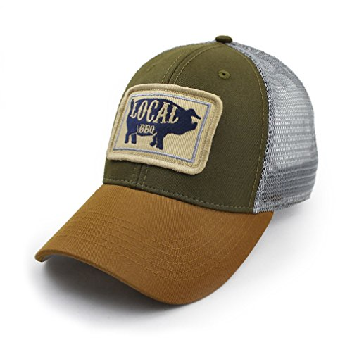 Everyday Trucker Hat, Structured, Local BBQ Pig, Olive