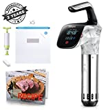 Sous Vide Cooker Immersion Circulator Stick Machine Kitchen Container Sandwich Maker Mom Kitchen Sous vide Accessories Rack Vacuum Storage Bags Recipe Cookbook (Pro Editon) SLAIYA