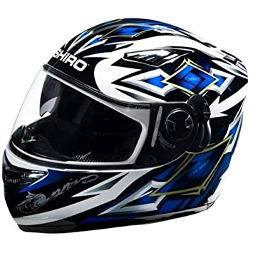 Shiro SH-830 Motorland - Casco para moto integral (doble pantalla), color
