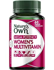 Nature's Own Mega Potency Women's Multivitamin - Packed With Vitamins, Minerals and Nutrients - Supports Wellbeing, 60 Tablets