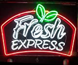 Cozyle Glass Bright Neon Light Fresh Express Neon Sign 17''x14'' Real for Mancave Beer Bar Pub Garage Room