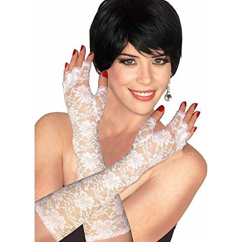 Forum Novelties White Lace Gloves