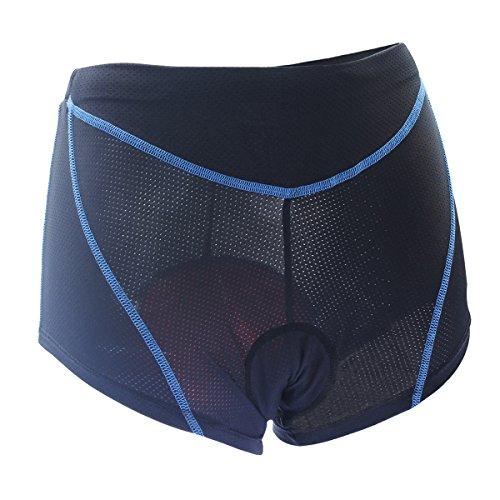 Twotwowin Women's Double Elasticity Cycling Underwear CK903,Black,M:waist 25.2-30in