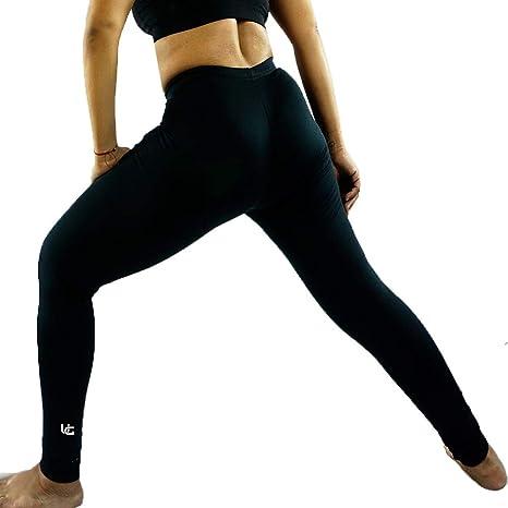 d82a853af5 UniqGarb Women's Polartec USA Fleece Thermal Leggings CXS Uni7 Black N-Peel  Thermal