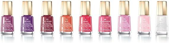 Mavala Mini Colors Pintauñas | Esmalte de Uñas | Laca de Uñas | 47 Colores Diferentes, Color Paris 03 (Rojo), 5 ml: Amazon.es: Belleza