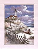 Lighthouse With Deserted Canoe by T.C. Chiu Double for sale  Delivered anywhere in USA
