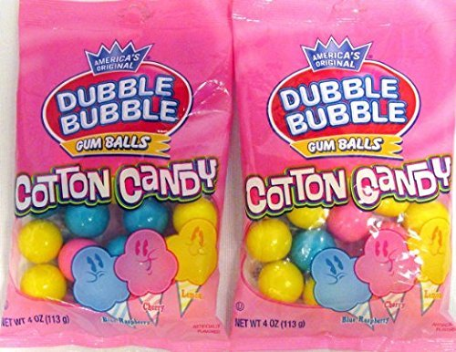 - America's Original Dubble Cotton Candy Bubble Gum Balls, 4oz. (2 Pack)