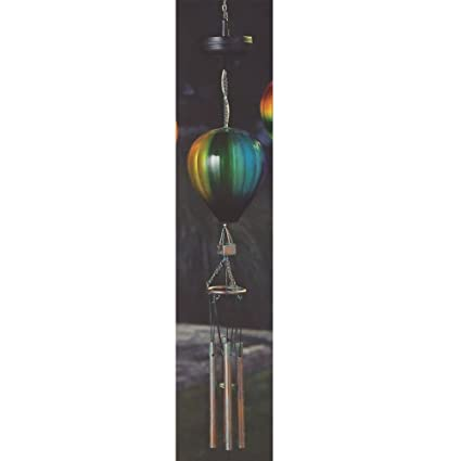 Amazoncom Solar Hot Air Balloon Wind Chime Garden Outdoor