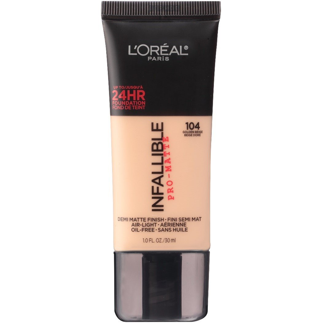 L'Oréal Paris Makeup Infallible Pro-Matte Foundation, 104 Golden Beige, 1 fl. oz. by L'Oreal Paris (Image #1)