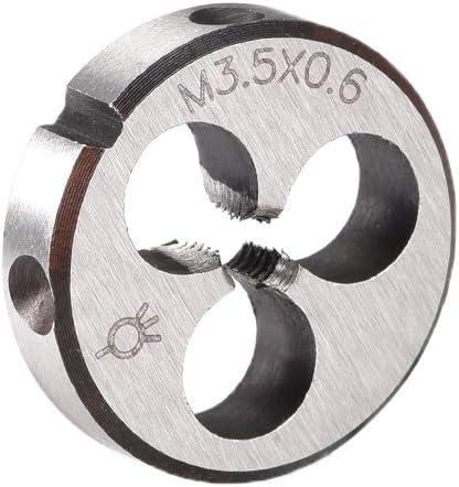 outil de d/écoupe /à vis Sourcing map M3,5 M3,5 M3,5 x 0,6 Pas m/étrique pour machine /à d/éfiler /à droite HSS acier haute vitesse filetage de filetage