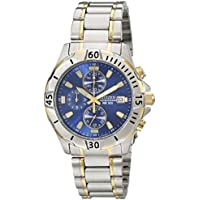 Citizen 41mm Men's Chronograph Two Tone Stainless Steel Bracelet Watch