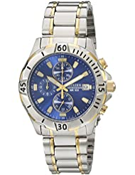 Citizen Mens Quartz Two-Tone Stainless Steel Chronograph Watch with Date, AN3394-59L