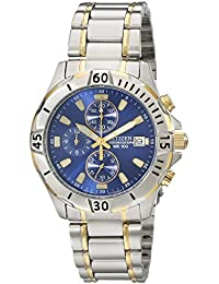 Mens Quartz Two-Tone Stainless Steel Chronograph Watch with Date, AN3394-59L