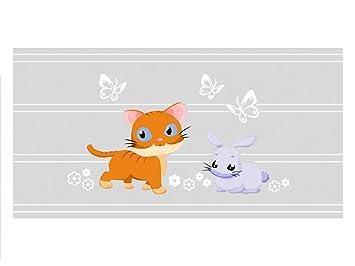 Graz Design Se - Protector de pantalla de colores para ventana conejo gato Mariposas, 90 x 57 cm: Amazon.es: Hogar