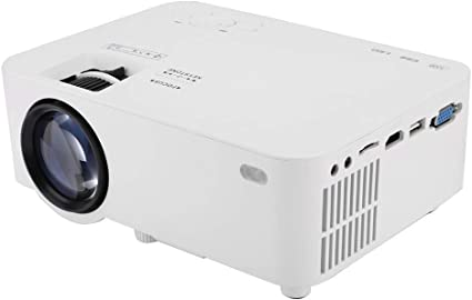 ASHATA Proyector LED portátil, 1080P Full HD Panel LCD único ...