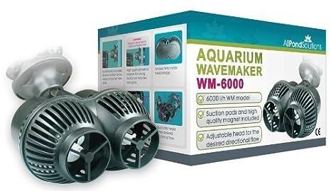6000L/H Marino Acuario Doble Fabricante De La Onda Pecera Cabezal De Poder Todas Las Soluciones De Estanques WM-6000: Amazon.es: Productos para mascotas