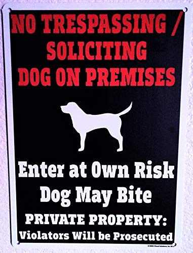 (Beware of Dog Sign - World's ONLY Legal Beware of Dog Sign - 14 x 10 inch - Made in USA - Two Sided - Weatherproof - Long Lasting Plastic Material - High Durability in Outdoor use)