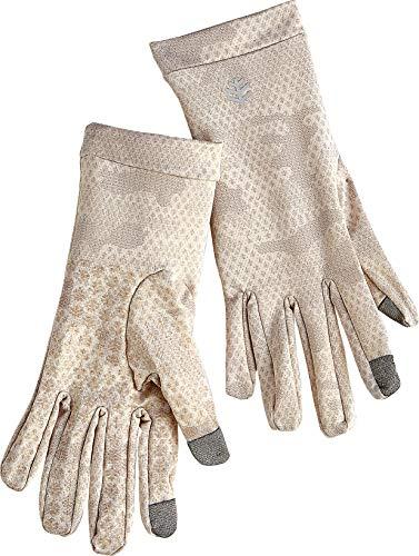 Coolibar UPF 50+ Unisex UV Gloves - Sun Protective (X-Small- Tan Coolibar Camo)