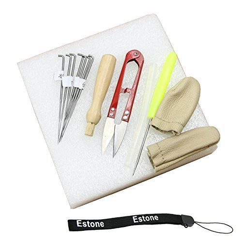 - Estone Needle Felting Starter Kit Wool Felt Tools Mat + Scissors + Needle Craft Kit