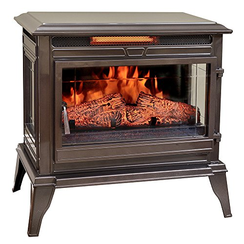 (Comfort Smart Jackson Infrared Electric Fireplace Stove Heater, Bronze - CS-25IR-BRZ)