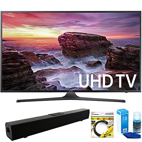 "Samsung  Flat 54.6"" LED 4K UHD 6 Series Smart TV  with Solo"