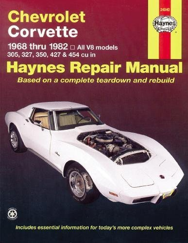 - Chevrolet Corvette: 1968 thru 1982, All V8 models, 305, 327, 350, 427 & 454 cu in (Haynes Manuals)