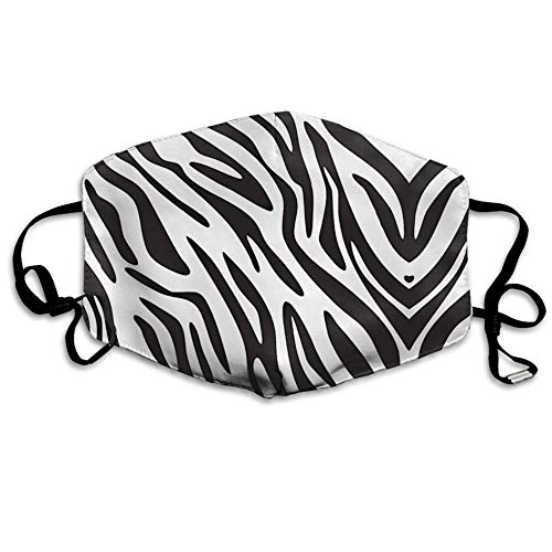 casually Animal Skin Zebra Print Mouth Mask Unisex Dustproof Mask Reusable Mask for Men and Women