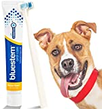 Dog Toothpaste and Toothbrush: Chicken Flavor Tooth Paste with Tooth Brush for Dogs & Cats. Teeth Brushing Cleaner Pet Breath Freshener Oral Care Dental Cleaning Kit. Tartar & Plaque Remover Brushes