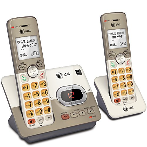 AT&T EL52213 2-Handset Expandable Cordless Phone with Answering System & Extra-Large Backlit Keys ()