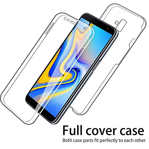 - IMIFUN Luxury 360 Full Protective Cover Soft Double Silicone Phone Case for Samsung Galaxy S6 S7 Edge S8 S9 S10 Plus A5 A6 A8 A9 J3 J4 J2 J5 J6 J7 J8 2018 2017 2016 Cases (Blue, A8/A5(2018))