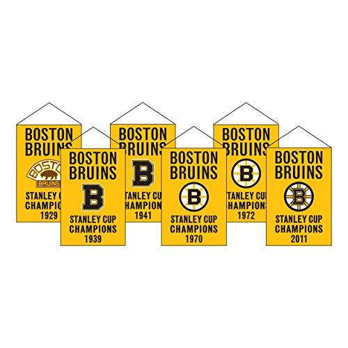 Winning Streak NHL Boston Bruins Unisex Boston Bruins Rafter Banner Replica PackBoston Bruins Rafter Banner Replica Pack, Gold, Banner