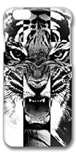 iPhone 6 Case - 4.7 inch model - Black White Tiger Customized Protective iPhone 6 Cover