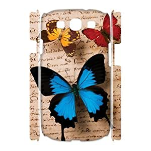 Butterfly 3D-Printed ZLB580547 Customized 3D Phone Case for Samsung Galaxy S3 I9300